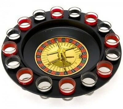 Shot Glass Roulette, Drinking Game Set, Comes With 2 Balls and 16 Shot Glasses