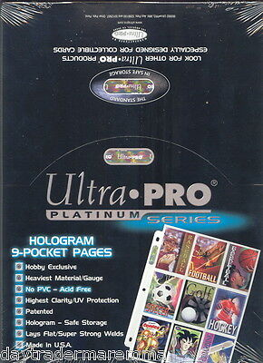 Ultra pro Platinum sealed box of 100 x 9 pocket pages