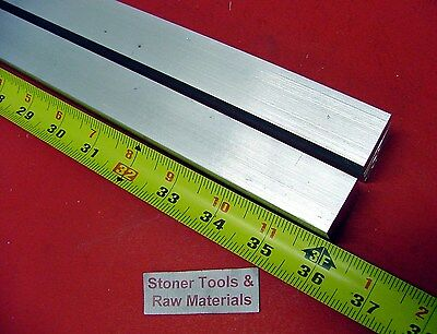 """2 Pieces 1"""" X 1"""" ALUMINUM 6061 SQUARE BAR 36"""" long T6511 Solid New Mill Stock"""