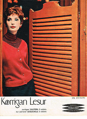 Publicite Advertising 1958 Meryl Tissus Pret à Porter Be Novel In Design Other Breweriana Collectibles