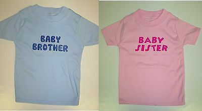 Boys/Girls Personalised Baby/Little Brother or Sister T-Shirt - Add Name on Back