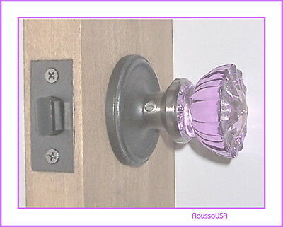 Coated Colors Passage Door Knob Set or Custom for any door-Solid Brass Rosettes