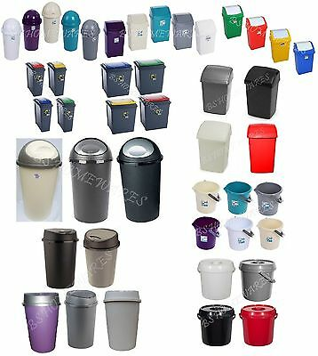<Bs> Bins Plastic Swing/recycle/touch Top/bullet Bin Bucket Kitchen Office Home