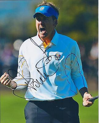 Ian POULTER SIGNED Autograph 10x8 Photo AFTAL COA Golf Celtic Manor