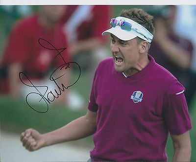 Ian POULTER In Person SIGNED Autograph 10x8 Photo AFTAL COA Match Play Champion