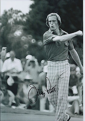 Jerry PATE SIGNED Autograph 12x8 Photo AFTAL COA GOLF Ryder & Walker Cup WINNER