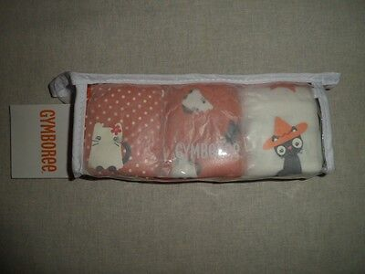 Gymboree READY DRESS GO Orange Halloween Black Cat Panty 3 pk Underwear NWT