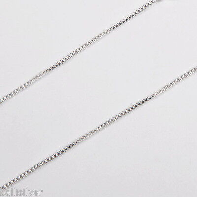 Sold by the foot Sterling Silver 925 BULK Continuous Fine 0.7mm BOX 012 CHAIN