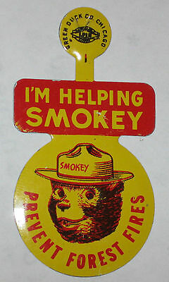 Smokey the Bear Forest Fires Pin 1960's