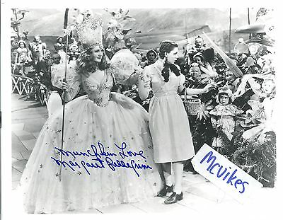 "Margaret Pellegrini The Wizard of Oz COA Autographed 8x10 Photo ""Munchkin Love"""