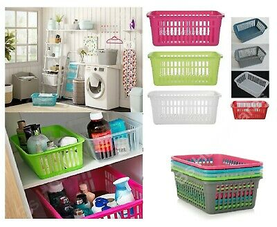 Set of 10 Plastic Handy Storage Basket Large,Small,Medium Kitchen Office School
