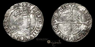 Henry Viii Lis Silver Hammered Tudor Tower Mint Profile Groat Coin 026768