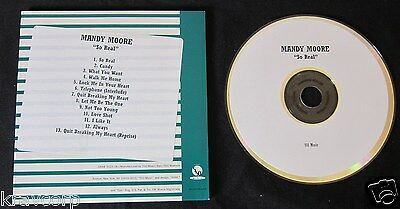 Mandy Moore 'So Real' 1999 Advance Cd