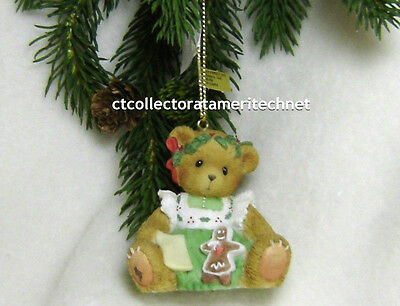 Cherished Teddies Ornament 2007 Bear with Gingerbread Abbey Press