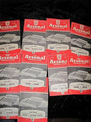 VINTAGE FOOTBALL PROGRAMME Arsenal Homes 1958 1959 1960 1961 Buy Individually
