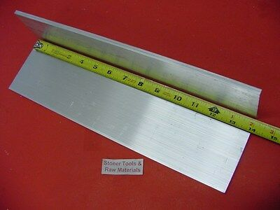 "2 Pieces 3/8"" X 6"" ALUMINUM 6061 FLAT BAR 14"" long .375"" Plate Mill Stock T6511"