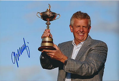 Colin MONTGOMERIE SIGNED Autograph 12x8 Photo AFTAL COA Ryder Cup Winner