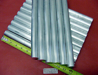 "15 Pieces 1"" ALUMINUM 6061 ROUND ROD 12"" LONG Solid T6511 1.00"" Lathe Bar Stock"