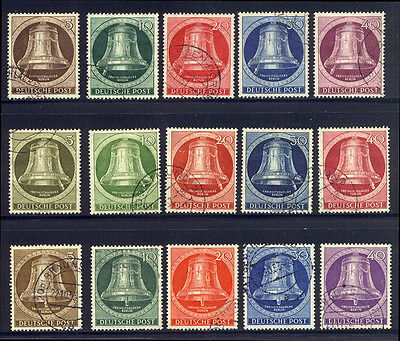 GERMANY #9N75//98 Used - 1951-54 Bell Sets