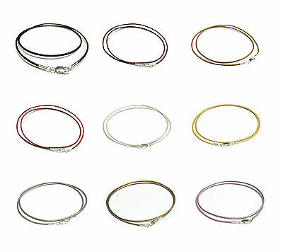 Sterling Silver Genuine Greek Leather cord 2mm Necklace Variable Length Color