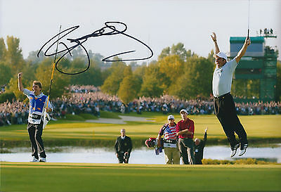 Paul McGINLEY SIGNED AUTOGRAPH 12x8 Photo AFTAL COA Ryder Cup Sinks Winning PUTT
