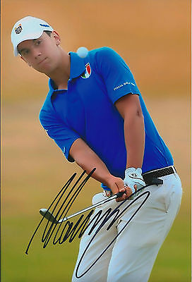 Matteo MANASSERO SIGNED Autograph 12x8 Photo AFTAL COA St ANDREWS GOLF