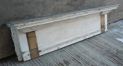 Large Antique Exterior Architectural Wood Pediment - White  (#4)