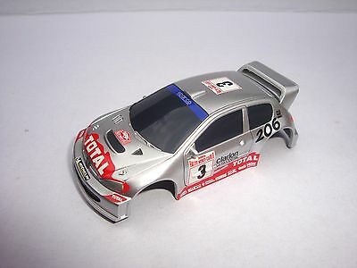 Brand New Micro Scalextric  Peugeot 206 Rally Car  Shell