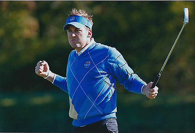 Ian POULTER SIGNED Autograph 12x8 Photo AFTAL COA Celtic Manor Ryder Cup GOLF