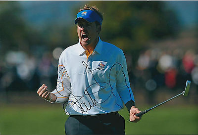 Ian POULTER SIGNED Autograph 12x8 Photo AFTAL COA Celtic Manor Ryder Cup WINNER