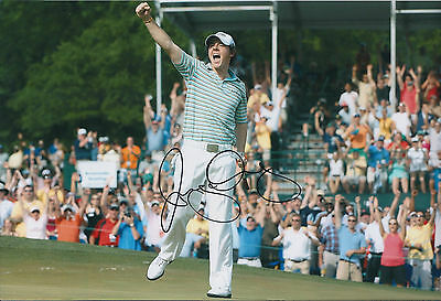 Rory McILROY SIGNED AUTOGRAPH 12x8 Photo AFTAL COA PGA Tour WINNER Golf Great