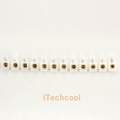 10A Terminal Block 12-Position Barrier Wire Connector Type H #T1K