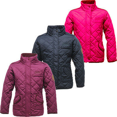 RRP £30 GIRLS REGATTA QUILTED THERMO GUARD INSULATED JACKET AGE 3-15YRS Gdy