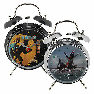 Tintin Alarm Clock Children Kids Bedroom Captain Haddok And Snowy Xmas Gift Bell