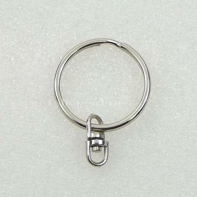 """25 50 100 250 Key Chains with Swivel Connectors Key Ring 4 buckle Snap 1"""" 25mm S"""