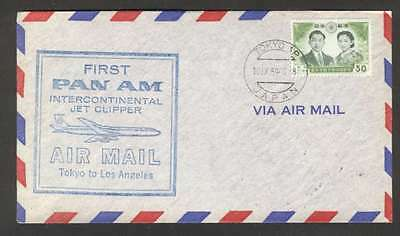 Japan To USA First Flight By Pan Am Jet Clipper Cover 1959 L@@K