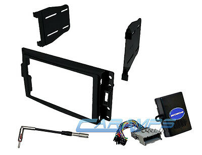 Car Stereo Radio Complete Double 2 Din Dash Installation Kit W/ Chime Interface