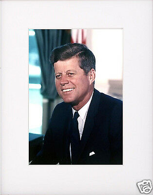 President John F. Kennedy JFK Matted Photo Portrait Picture #1a