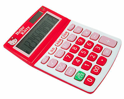 New Sanrio HELLO KITTY SOLAR / Battery CALCULATOR ( apple ) 12 digits