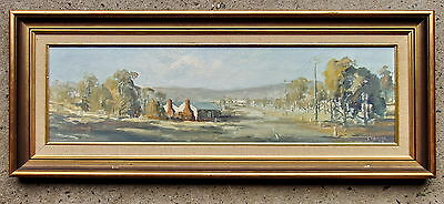 S.MATHER 73 Scene Near Guilford NSW Framed Oil Painting