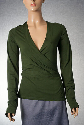 P1785G Women's InWear Essentials lovely green wrap blouse Size S