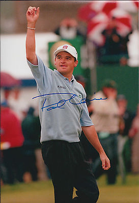 Paul LAWRIE SIGNED Autograph 12x8 Photo Celebrates Open WIN 1999 AFTAL COA