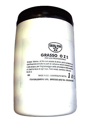 Grasso bianco idrorep. al Litio e ossidi Zinco/Titanio bar. 1 Lt  OZ2Green Star