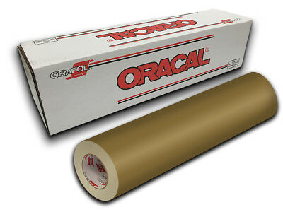 """12"""" X 10ft - Gold Oracal 651 Craft, Graphics & Hobby Cutting Vinyl"""