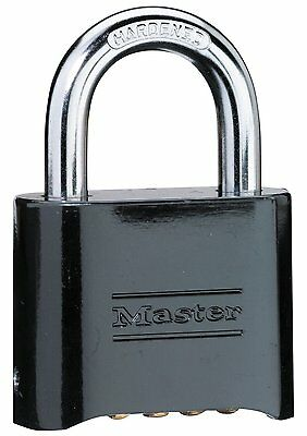 Master Lock Set-Your-Own Combination Padlock 178D, Die-Cast, Black, New