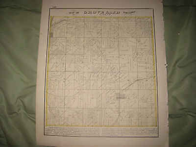 Antique 1872 Groveland Township Wesley City Tazewell County Illinois Map Nr