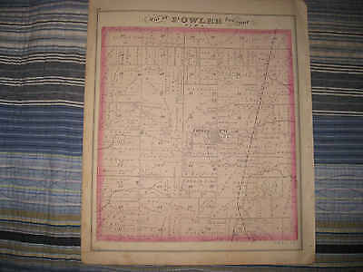 Antique 1874 Fowler Township Trumbull County Ohio Handcolored Map & Litho Print