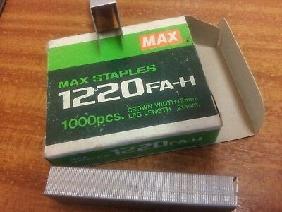 Max 1220FA-H Industrial Staples. (23/20) Fit HD-12S/24
