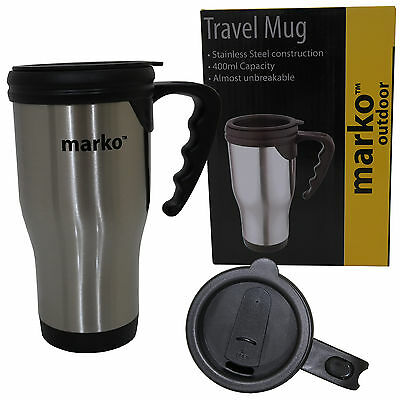 Thermos Stainless Steel Travel Mug Flask 400ml Insulated Drinks Cup Lightweight