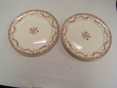 "WS George China ""Derwood"" 2 Dinner Plates (10 1/4"") VGC made in the USA"